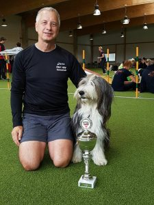 bearded collie elli agility
